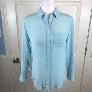 Madewell Silk Button Down Blouse - Size XS